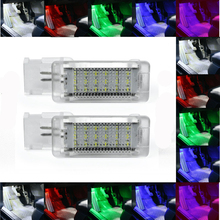 2Pcs Canbusไม่มีข้อผิดพลาดLED Footwell Light Bootกล่องถุงมือสำหรับVW Golf 5 6 7 Jetta SCIROCCO passat Polo Cc 6R 6Cสีแดงสีขาวสีฟ้า