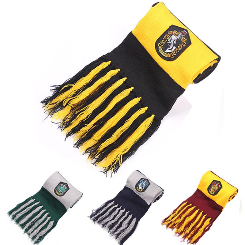 College Scarf Gryffindor / Slytherin / Hufflepuff / Raven Carat Scarf Cosplay Halloween Costume Kids Party Dress Up