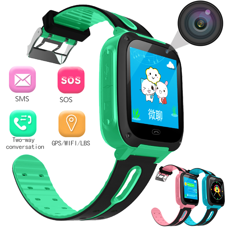NEW Positioning Children Security Anti Lost Smart Watch With Camera Kid Lighting SOS For IOS Android Children Smart Watches
