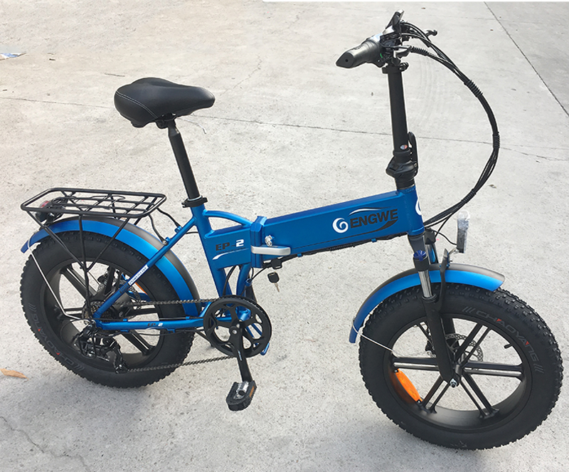 Electric bike 20*4.0inch Aluminum Foldable electric Bicycle 48V12A 500W 38KM/H 7Speed Powerful Fat Tire bike Mountain snow ebike 5