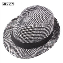SILOQIN  Men Autumn Winter Trend New Style Fedoras Middle Old Aged Gentleman Fashion Keep Warm Jazz Hats Brand Sombreros Dad Hat