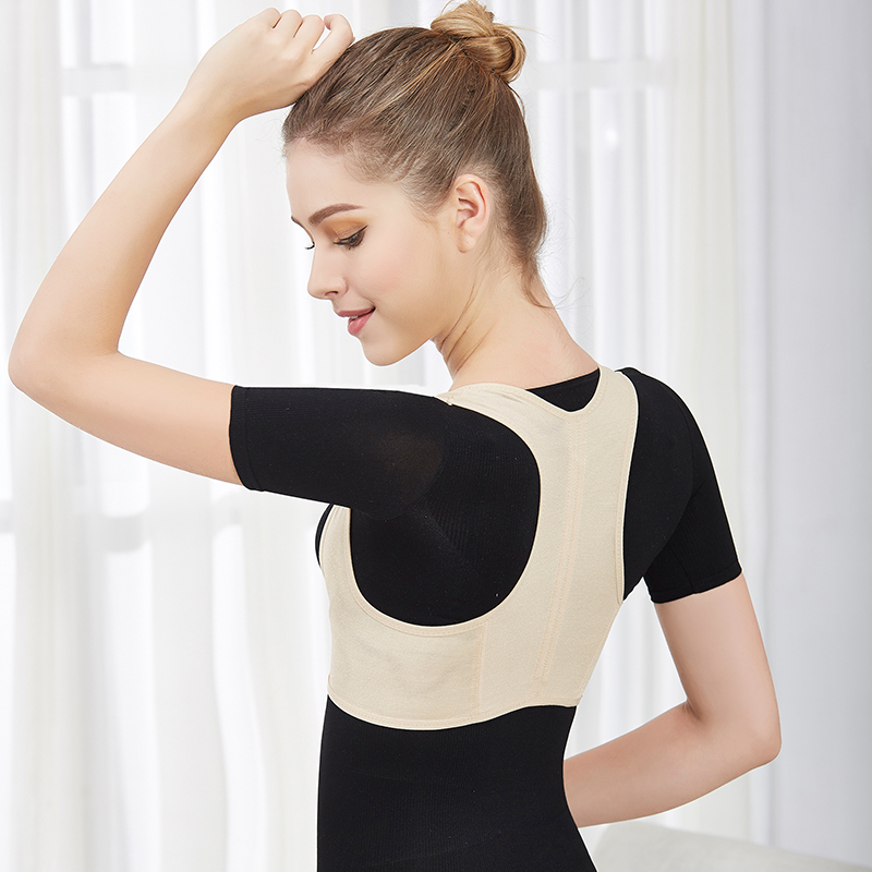 Adult Invisible Woman Posture Corrector Therapy Slouching Anti <font><b>Humpback</b></font> Back Support Spine Straight Clavicle Shoulder Correction image