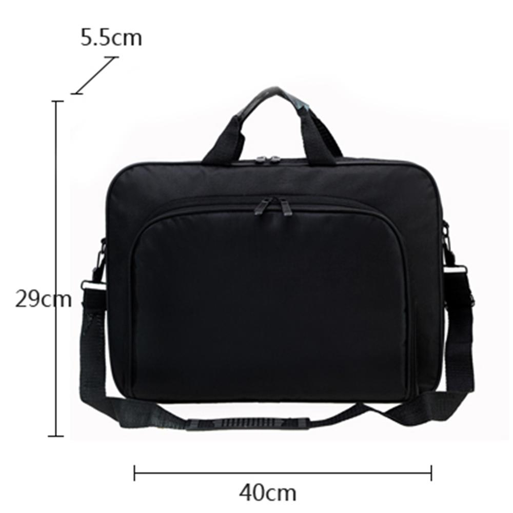 Image 5 - ALLOYSEED Business Laptop Bag Portable Nylon Computer Handbags Zipper Shoulder Simple Laptop Shoulder Handbag Briefcase Black-in Laptop Bags & Cases from Computer & Office