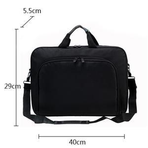 Image 5 - ALLOYSEED Бизнес сумка для ноутбука Портативный нейлон компьютер Сумки молния плечо простой ноутбук сумка Портфели черный сумка для ноутбука
