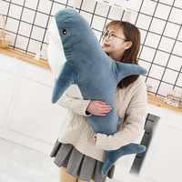 Speedline 80/100/140CM Big Size miękki zabawkowy rekin pluszowe zabawki dla dzieci pluszowe wypełnione zabawkowy rekin śliczna poduszka poduszka na prezent dla dzieci