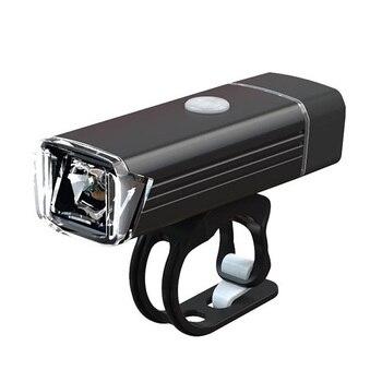 Luz LED frontal recargable USB para bicicleta al aire libre, linterna impermeable para bicicleta, faros delanteros, conjuntos de luces traseras
