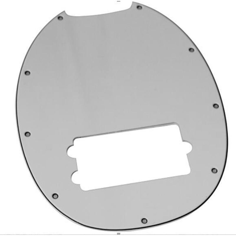 Bass Pickguard MusicMan Stingray MM4 Scratch Plate For Music Man MM2 4 String Guitar Parts,White 3 Ply Pickguard
