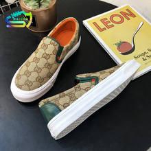 Naicen mulher sapatos planos moda respirável tênis de lona senhoras apartamentos deslizamento-sobre sapatos das mulheres zapatos de mujer zapatos casuais