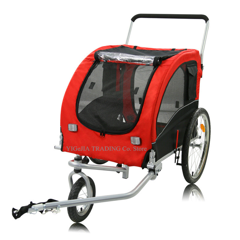 2-in-1 Pet Stroller, 20inch Big Wheel Pet Bicycle Trailer For Large Dogs And Cats Can Load 40KG, Dog Trailer With A Hitch Linker