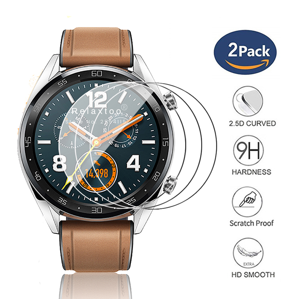 2pcs Protective Glass For Huawei Watch Gt Protector For Huawei Watch Gt2 (46mm) Screen Film Tg 2 Tg2 2gt Smartwatch Accessories