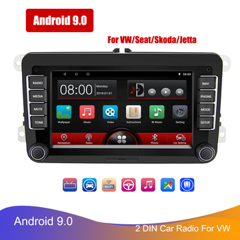 2 Din 7 Android Car Multimedia Player WIFI GPS Navigation Autoradio For VW Skoda Passat Polo Golf Touran Seat FM Mp5 Player image