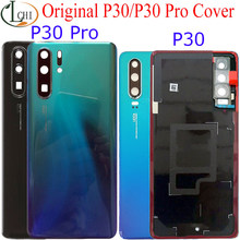 Original para huawei p30 pro bateria capa traseira porta de vidro habitação para huawei p30pro bateria capa para huawei p30 bateria capa