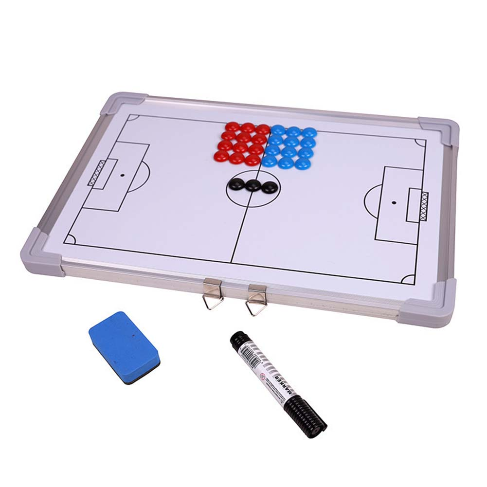Strategy Teaching With Marker Magnetic Soccer Coaching Board Double Sided Basketball Metal Frame Eraser Handheld Competition
