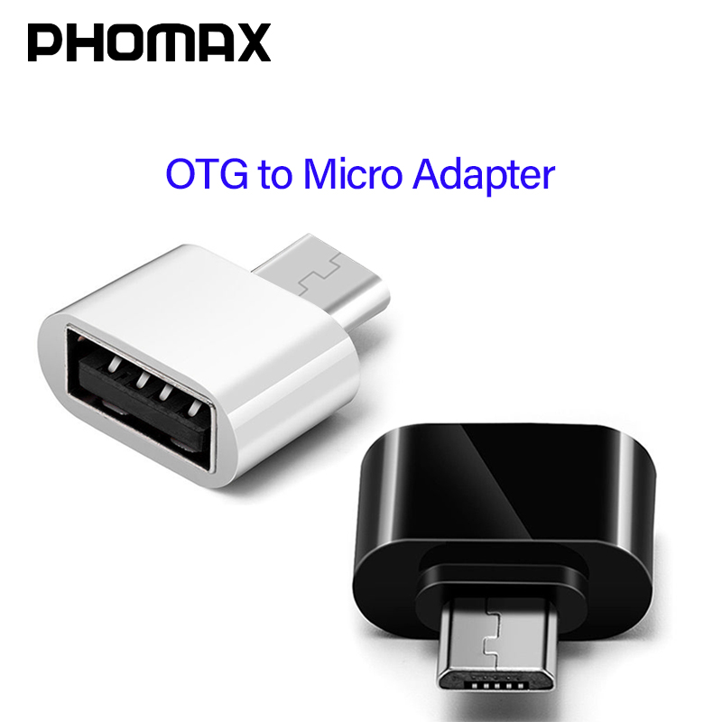 PHOMAX  Micro USB Adapter Mini OTG Adapter For Mobile Phone Tablet Card Reader For Flash Mouse Keyboard Expansions OTG Converter