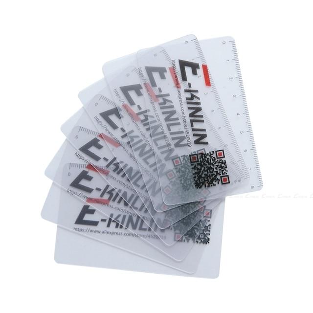 Ruler Plastic Open Mobile Phone LCD Screen Disassembly Teardown Repair Pry Opening Tool Scraper Measuring Business Tools Card 5