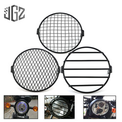 6inch Motorcycle Universal Vintage Headlight Protector Retro Grill Light Lamp Cover For Cafe Racer Harley Ducati Chopper Benelli