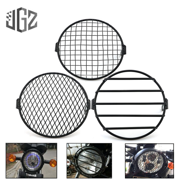 7 inch Motorcycle Universal Vintage Headlight Protector Retro Grill Light Lamp Cover For Harley Ducati Chopper Yamaha Cafe Racer