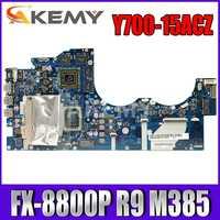 FRU: 5B20K94030 BY510 NM-A521 placa base para Lenovo Y700 Y700-15ACZ placa base de computadora portátil CPU FX-8800P 2.1Ghz CPU R9 M385 4GB GPU