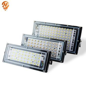 Led Flood light 30W 50W 100W Waterproof IP65 Outdoor LED Reflector Light Garden Lamp AC 220V 240V Spotlight Street Lighting цена 2017