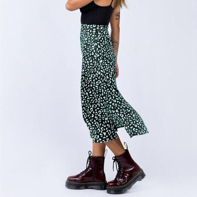 2020 New Sexy Leopard Print Chiffon Split Skirt   3