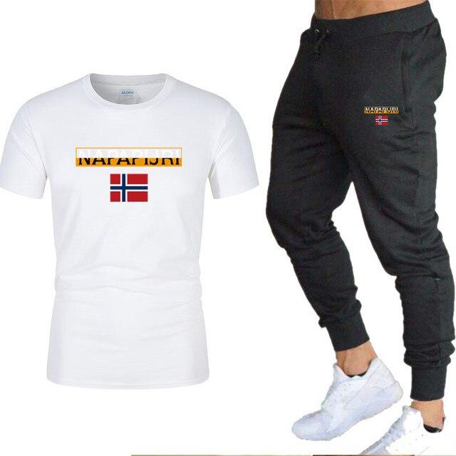 Men's sets t shirts + pants two pieces sets casual  6