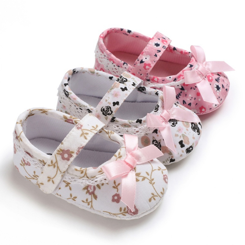 Weixinbuy Little Kid Toddler Baby Girls Flower Princess Shoes Anti Slip Soft Mary Jane Flats