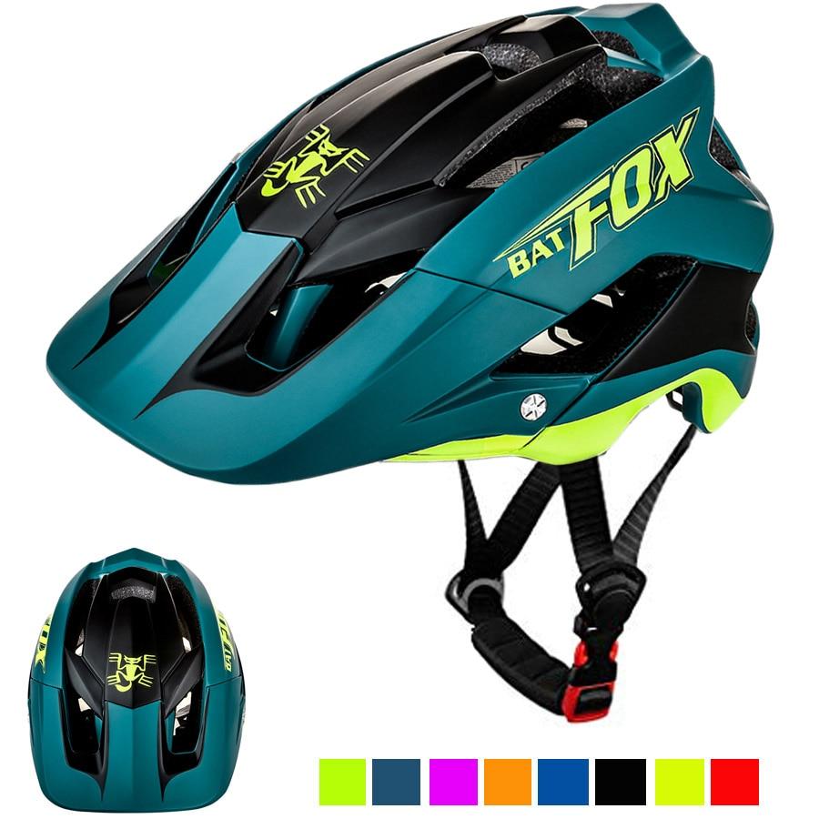 BATFOX Bicycle Helmet Matte Black Cycling Helmets MTB Road Mountain Bike Helmet Inner Cap casco Capacete Da Bicicleta Helmet