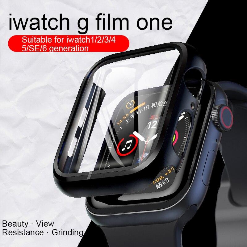 Assista caso capa para apple assistir série 6 5 4 3 2 1 caso 42mm 38m 40mm 44mm tpu caso protetor de tela para iwatch 6 5 4 44mm