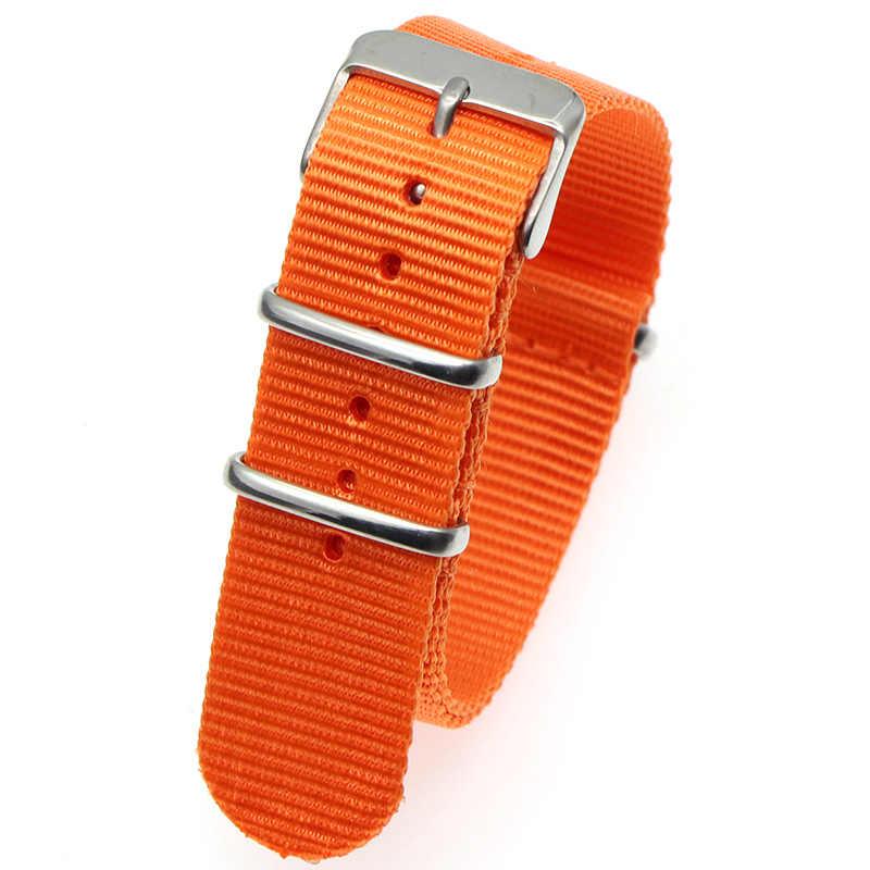 """נאט""""ו רצועת צמיד 18mm 20mm 22mm להקת שעון פסים החלפת שעון אביזרי להקה שחורה, חום שעון רצועה"""