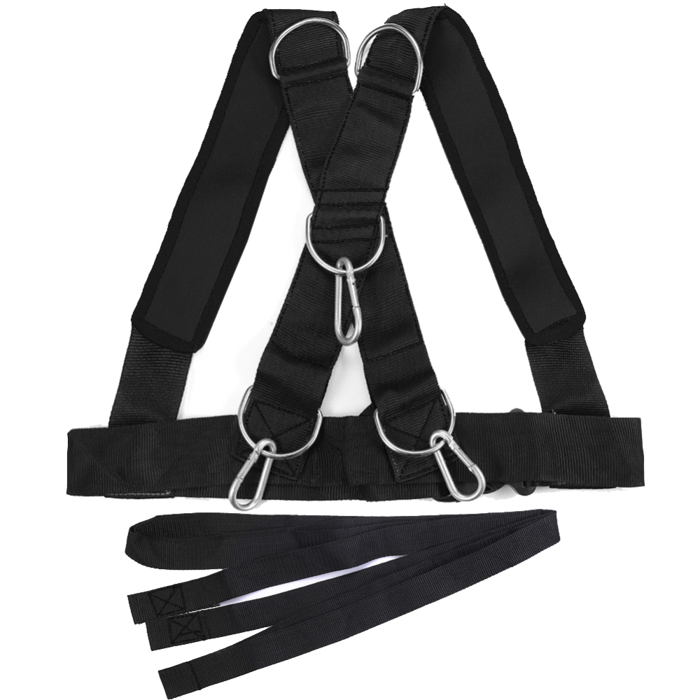 Neoprene And Polyester Fitness Sled Harness Workout Speed Trainer With Pull Strap For Resistance Training Speed Endurance