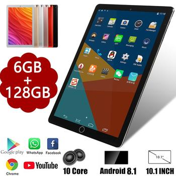 2020 Super 10 inch 6G+128GB Tablet PC Android 9.0 Octa Core 3G 4G LTE Tablets 8.0 MP Back Camera WiFi Bluetooth GPS