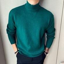 Шерстяной свитер для мужчин повседневные свободные пальто с