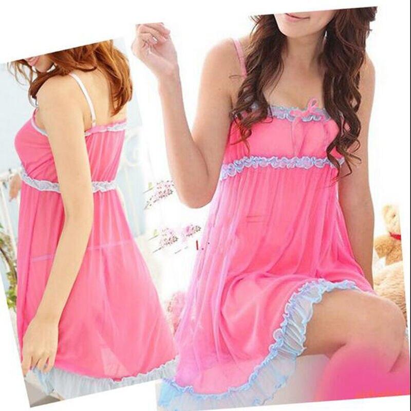 Lace Women lingerie Sleepwear Babydoll Nightdress Nightwear in Nightgowns Sleepshirts from Underwear Sleepwears