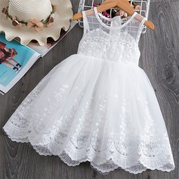 цены 2-7Y Princess Toddler Baby Kid Girls Tulle Pearls Tutu Dress Party Wedding Birthday Bow Dresses For Girls