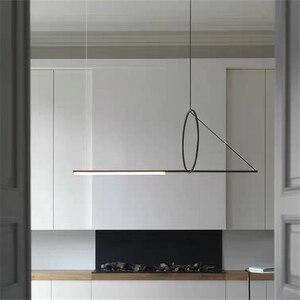 Image 2 - Post modern Pendant lights Simple Iron Art lamp dining room furniture Designer indoor lighting Living Room Decor Light Fixtures