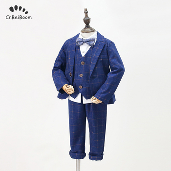 2020 New Design Flower Boys Wedding Suit 5PCS Boys Party Christmas Costume Gentle Boys Formal Clothing Set Kids Suits