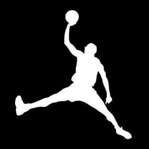 Image 2 - Creative רכב מדבקות ויניל אביזרי ספורט לשחק כדורסל NBA אופנוע מדבקות לרכב חלון רעיוני PVC 15cm X 13cm