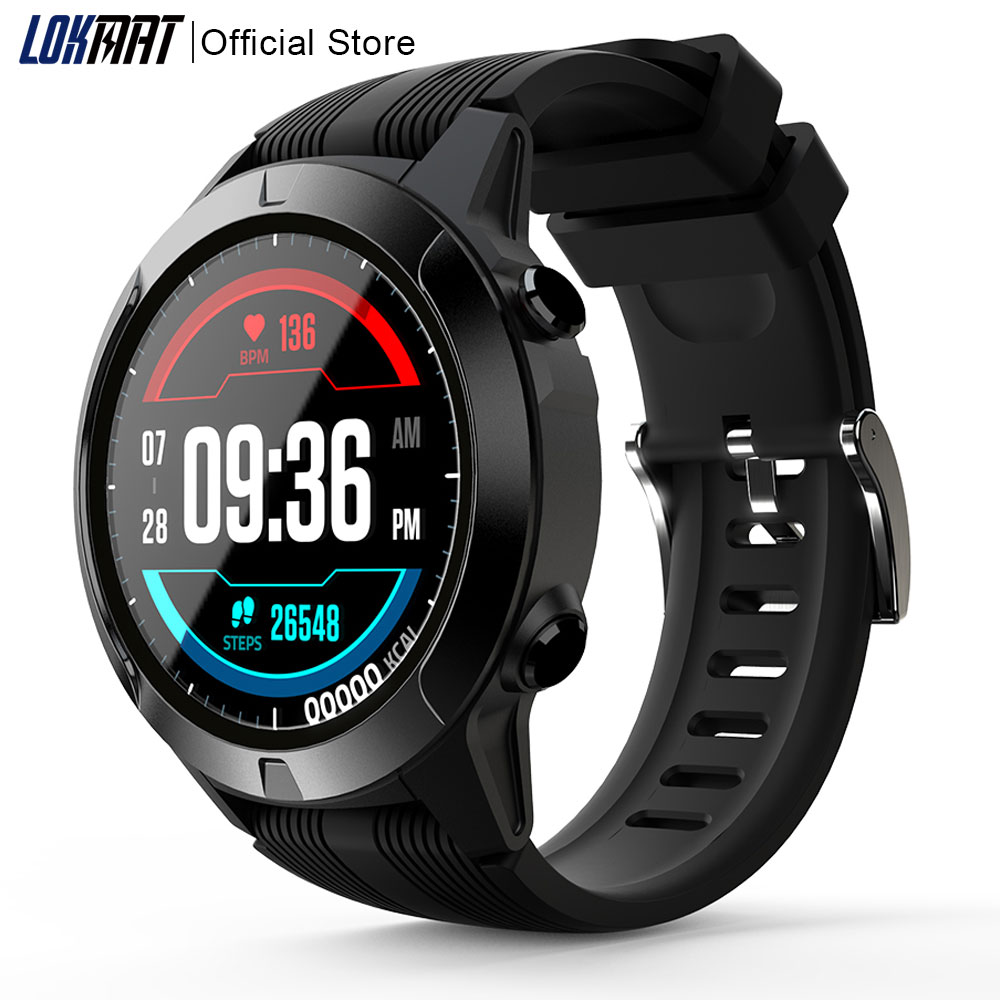 LOKMAT Full Touch Smart watch Men women SIM Card Waterproof Heart Rate Bluetooth Calls Sport GPS Clock Smartwatch For Xiaomi ios
