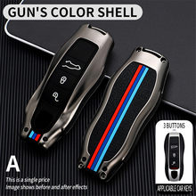 Car Fob Remote Key Case Key Cover Key Shell Replace for Porsche 911 Carrera Panamera Boxster Cayman Cayenne Macan key chains
