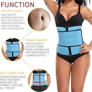 Image 2 - High Compression Waist Trainer Tummy Trimmer Zipper Neoprene Cincher Fitness Corset Body Shapers Slimming Abdominal Belt