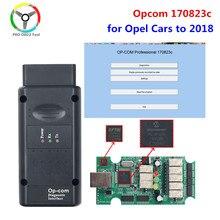 2018 opcom 170823c com pic18f458 ftdi ft232rq para opel carro scanner diagnóstico apoio carros 2018 opcom profissão 170823c