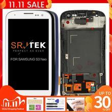สำหรับSamsung Galaxy SIII S3 Neo I9301 I9300i I9308i I9301iหน้าจอLCD Touch Digitizer Frame Assembly