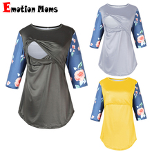 Emotion Moms Half Sleeve Spring Maternity Clothes Top Breastfeeding Tops Sweater Nursing Hoodies For Pregnant Women