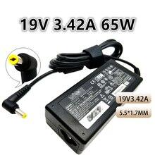 19V 3.42A 65W uniwersalny Laptop zasilacz ładowarka do Acer A11 065N1A ADP 65VH B/ADP 65 PA 1650 1700 02