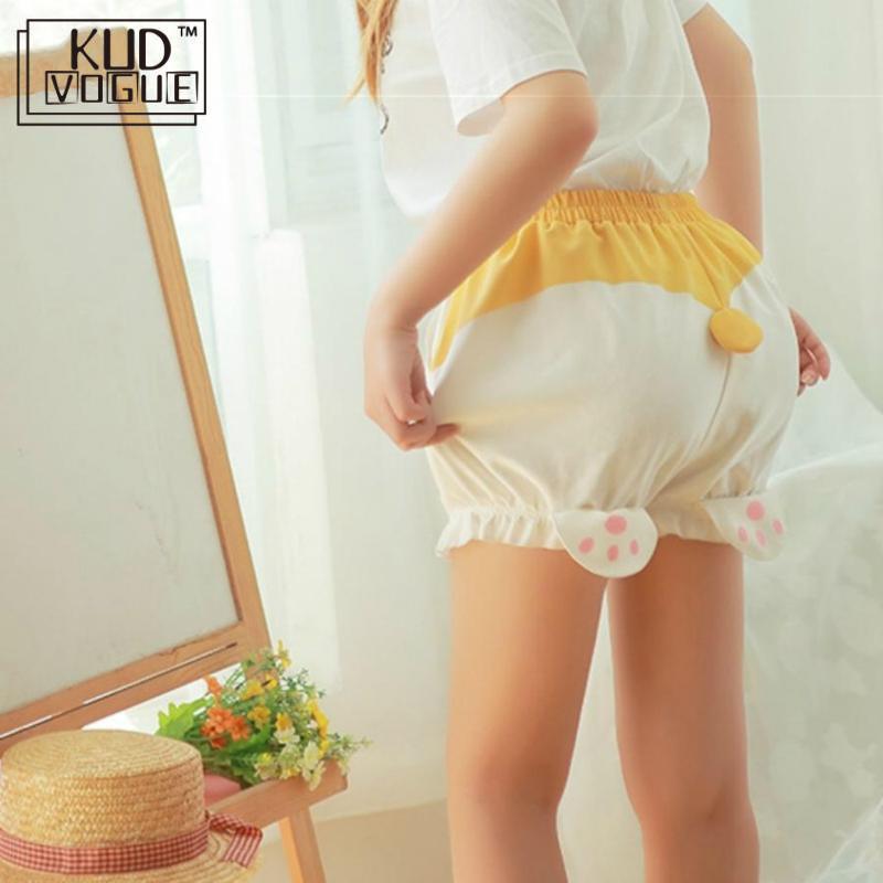 Restock Cute Sleep Bottoms Shorts Women Lolita Kawaii Corgi Butt Shorts Harajuku Pumpkin Bloomers Pajamas Elastic Waist 8446