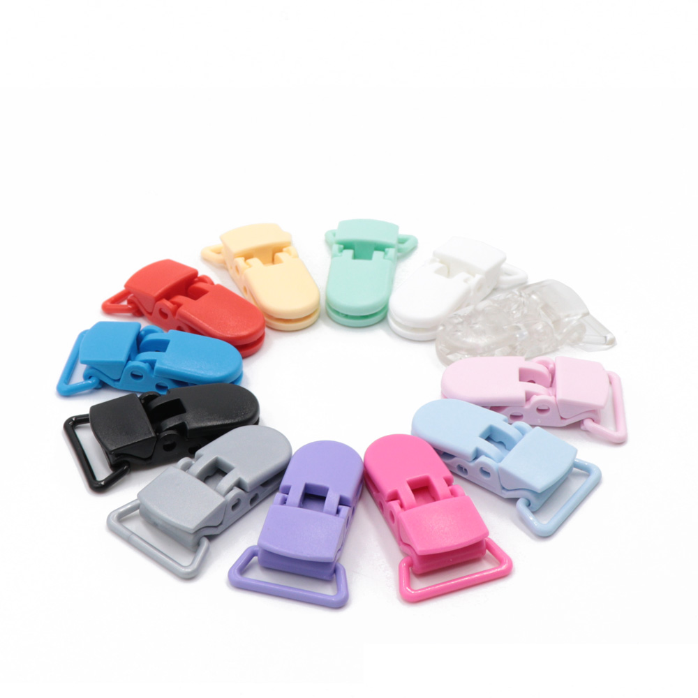 20PCS Baby Teething 18mm Plastic Clips DIY Pacifier Clip For Silicone Teething Beads