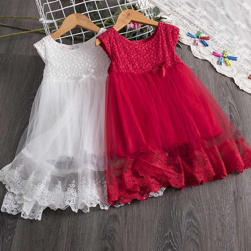 Children Vestidos Formal Princess Dress Girl Dress Toddler Girl Dresses Baby Floral Party Dress Dance Clothing For Kids 3-8Years