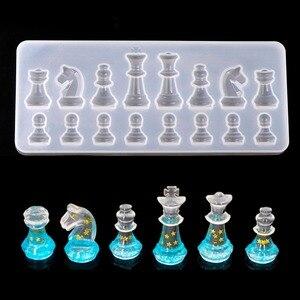 DIY креативная эпоксидная смола для наполнения УФ, форма, международные Шахматные фигуры, смола, силиконовая форма для детей, подвесные формы...
