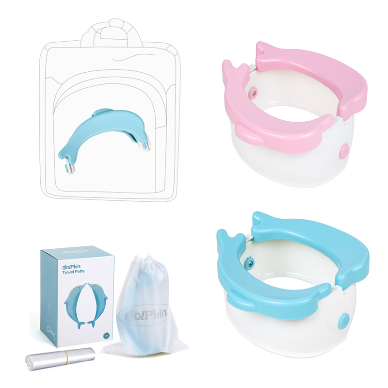 Foldable Infant Toilet Training Babys Potty For Kids Children's Portable Travel No-clean Potty Training Seat For Dolphin Toilet