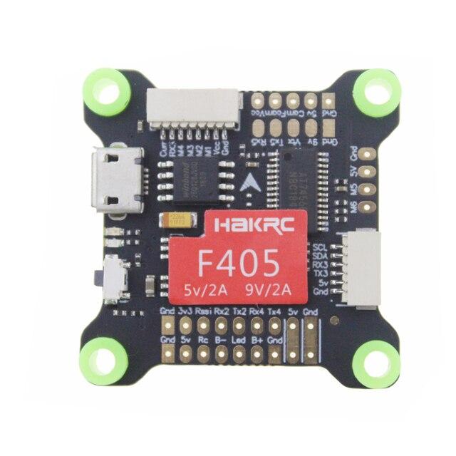 Controlador de voo integrado do zangão f405 v3 de corrida de hakrc osd 5 v 9v duplo bec 50a 4 em 1 flytower esc